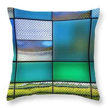 Rectangles Throw Pillow by Paul Wear