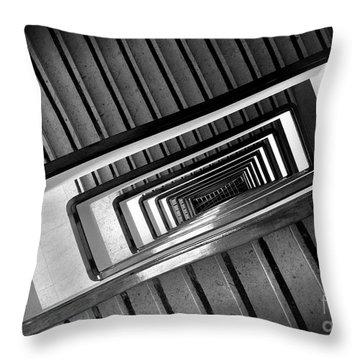 Rectangular Spiral Staircase Throw Pillow