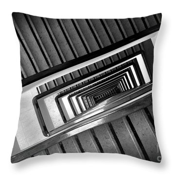 Rectangular Spiral Staircase Throw Pillow