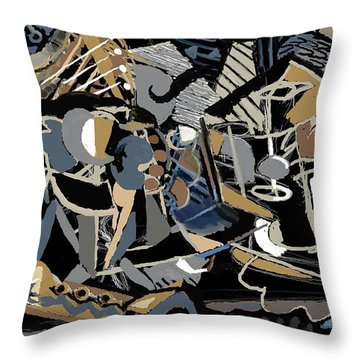 Throw Pillow featuring the digital art Recuerdos De Espana by Clyde Semler