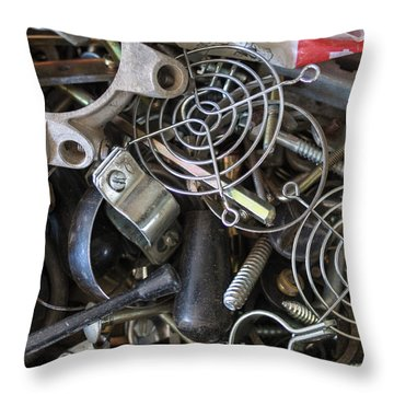 Recycle Metal Throw Pillow