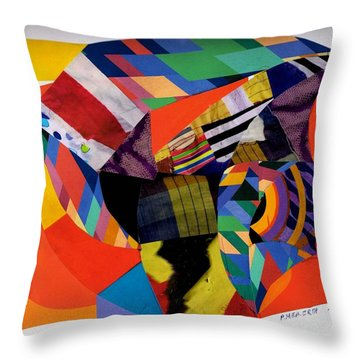 Recycled Art Throw Pillow