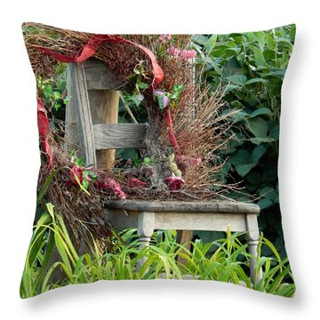 Recycled Welcome Throw Pillow