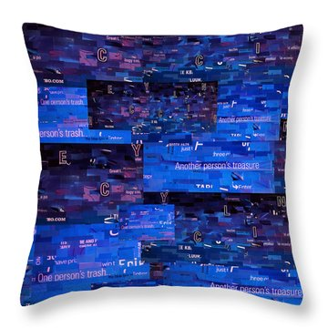 Throw Pillow featuring the digital art Recycling by Shawna Rowe