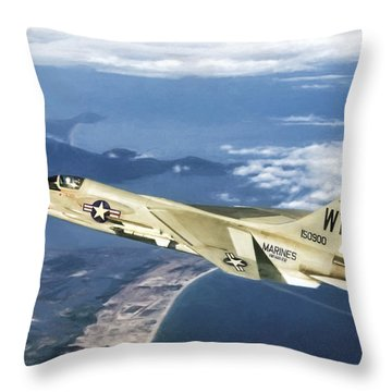 Red 1 Lead Throw Pillow