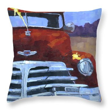 Red 1948 Chevy  Throw Pillow