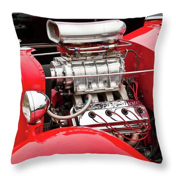 Red 1992 Throw Pillow by Guy Whiteley