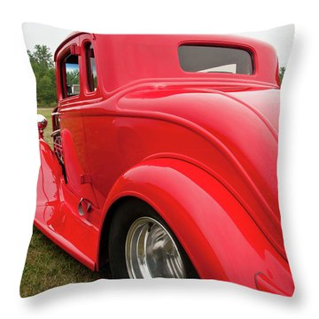 Red 1994 Throw Pillow by Guy Whiteley