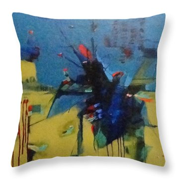 Red 35 Throw Pillow