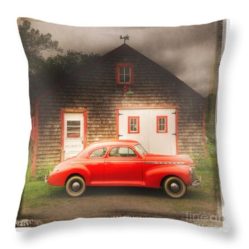 Throw Pillow featuring the photograph Red 41 Coupe by Craig J Satterlee