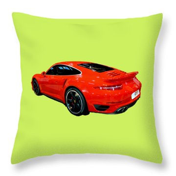 Red 911 Throw Pillow