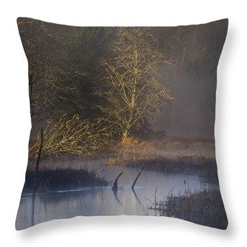 Red Alder Along Colewort Creek Throw Pillow
