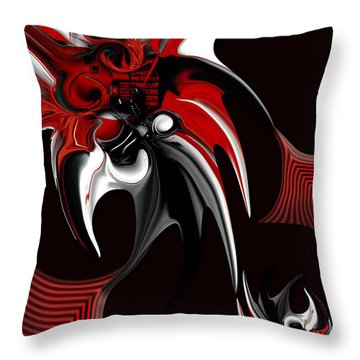 Red And Black Formation Throw Pillow by Carmen Fine Art
