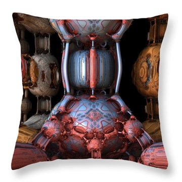 Red And Blue Old School Throw Pillow