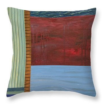 Red And Blue Study Throw Pillow by Michelle Calkins