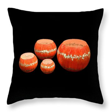 Red And White Bowls Throw Pillow