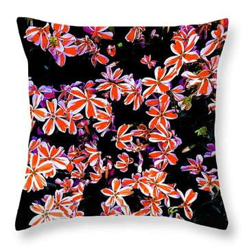 Red And White Flowers Throw Pillow