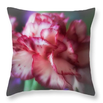 Red And White Splash Throw Pillow