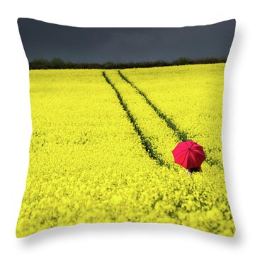 Red And Yellow And....... Throw Pillow