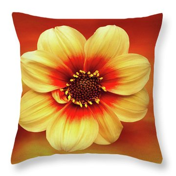 Red And Yellow Inspiration Throw Pillow