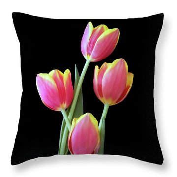 Throw Pillow featuring the photograph Red And Yellow by Johanna Hurmerinta