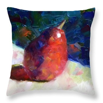 Red Anjou Arriving Throw Pillow