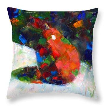 Red Anjou Confetti Throw Pillow