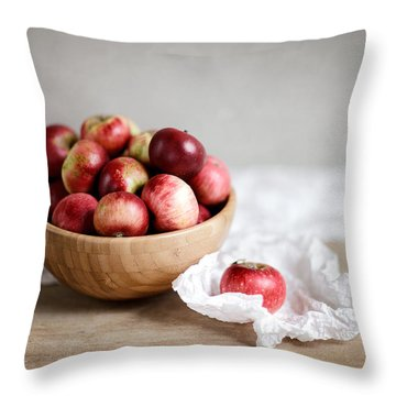 Red Apples Still Life Throw Pillow