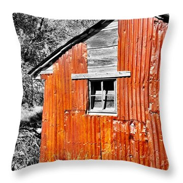 Red Armor Throw Pillow