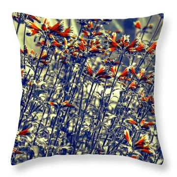 Throw Pillow featuring the photograph Red Army by Wayne Sherriff