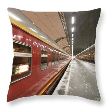 Red Arrow Express Throw Pillow