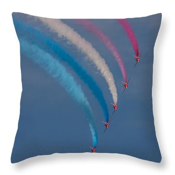Red Arrows Loop Throw Pillow