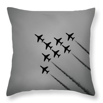 Throw Pillow featuring the photograph Red Arrows - Teesside Airshow 2016 Silhouette by Scott Lyons