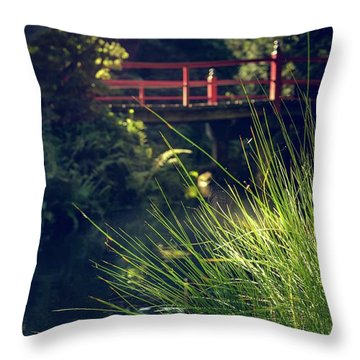 Red At Kubota Throw Pillow