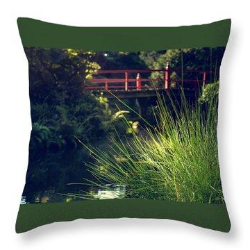 Red At Kubota Throw Pillow