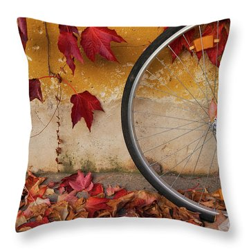 Throw Pillow featuring the photograph Red Autumn by Yuri Santin