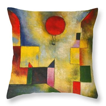 Red Balloon Throw Pillow