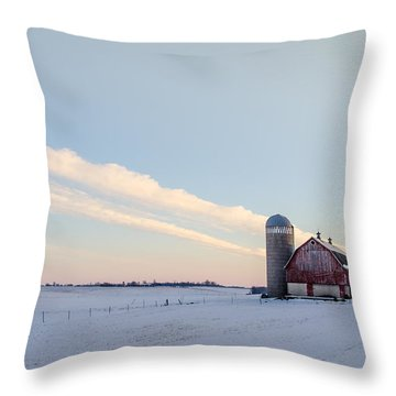 Throw Pillow featuring the photograph Red Barn by Dan Traun