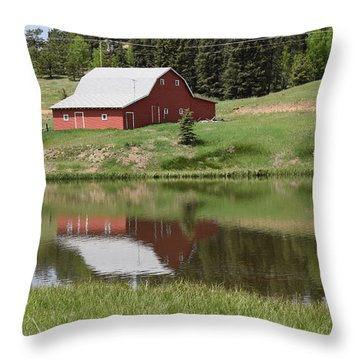 Red Barn Burgess Res Divide Co Throw Pillow