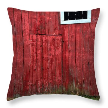 Red Barn Wall Throw Pillow