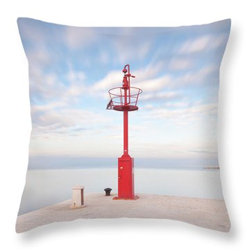 Red Beacon Throw Pillow