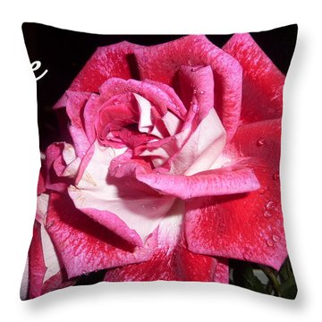 Red Beauty 3 - Love Throw Pillow