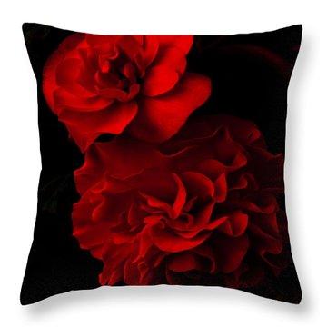 Red Begonia Throw Pillow