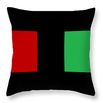 Red Black And Green Throw Pillow