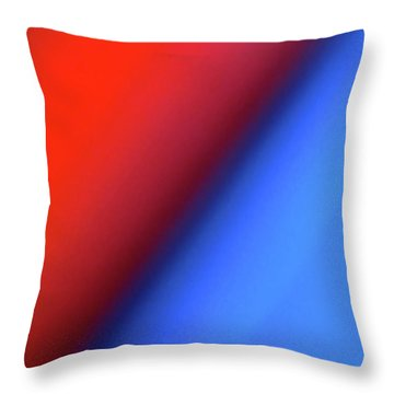 Throw Pillow featuring the photograph Red Blue by CML Brown
