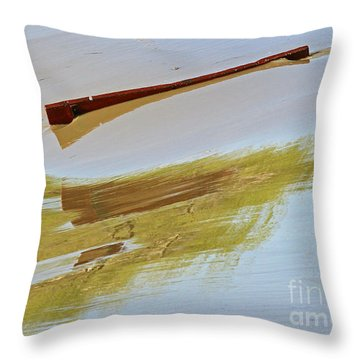 Red Board Over The Dam Throw Pillow