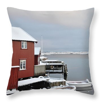 Boathouses Throw Pillow