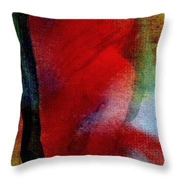 Red Boudoir Throw Pillow by Susan Kubes