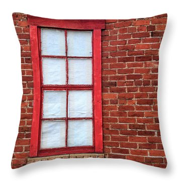Throw Pillow featuring the photograph Red Brick And Window by James Eddy