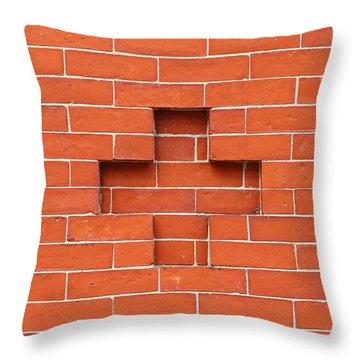 Red Brick Cross Throw Pillow